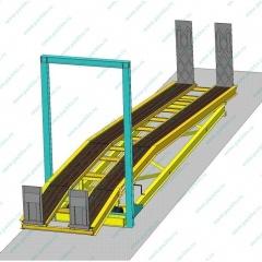 Передвижная рампа для выгрузки автомобилей